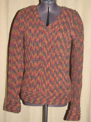 Crochet Vertical Rib V Neck Womens Sweater I Knit And Crochet