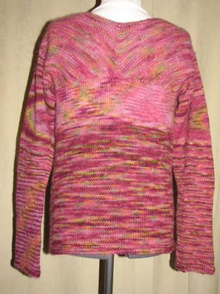 knitted womens sweater back