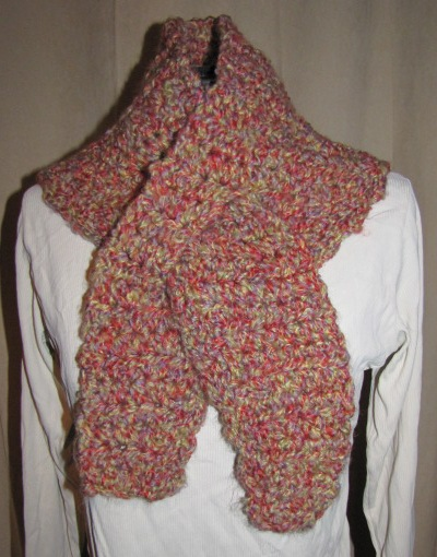 Crochet Keyhole Scarf (Quick & Easy) - I Knit and Crochet