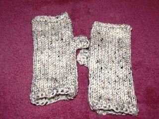 Afghantunisian Crochet Fingerless Glovesmittens Knit Stitch I